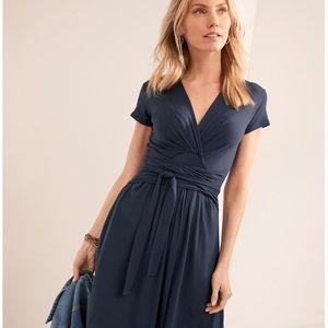 Dresses & Skirts - Garnet Hill Tie-Waist Ruched Knit Dress